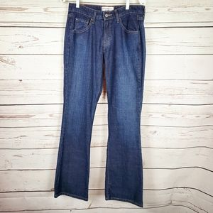 Levi Strauss Stretch Low Rise Bootcut Blue Jeans 8